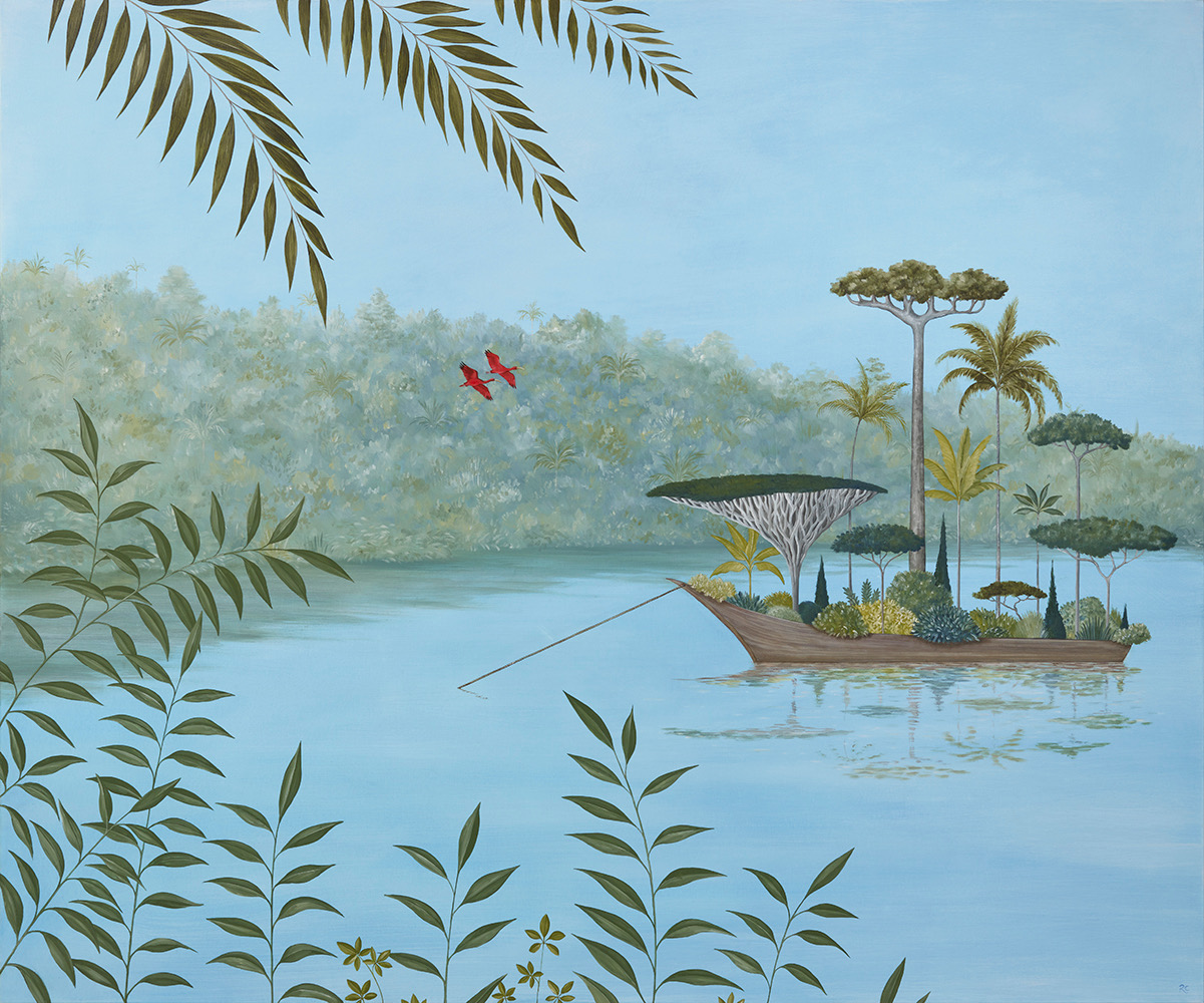 Botanist's Bounty, Oil On Linen 100 x 120 cm Sold